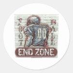 Football End Zone Sticker