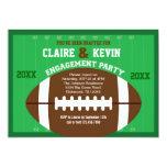 "Football Engagement Party Invitation 5"" X 7"" Invitation Card"