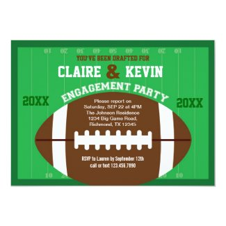 Football Engagement Party Invitation