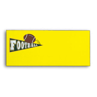 Football Envelope Yellow and Green by SRF