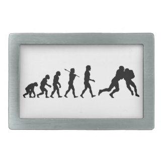 Football Evolution Fun Sports Rectangular Belt Buckles