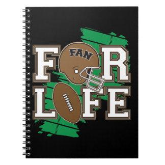 Football Fan Brown Notebook