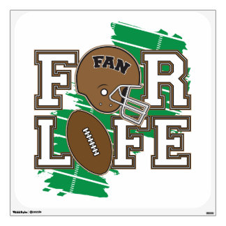 Football Fan Brown Room Graphic