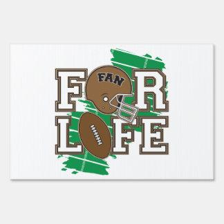 Football Fan Brown Yard Sign
