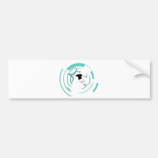 Football fan bumper sticker
