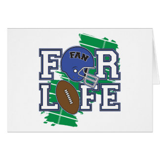 Football Fan Dark Blue Greeting Cards