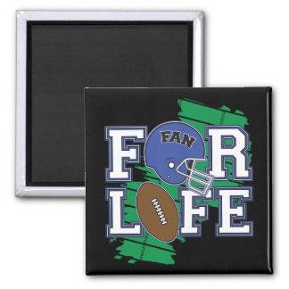 Football Fan Dark Blue Refrigerator Magnet