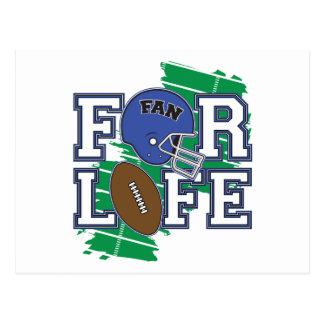 Football Fan Dark Blue Post Cards