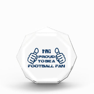 Football fan design acrylic award