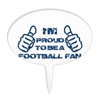 Football fan design cake topper