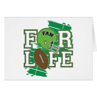 Football Fan Green Greeting Cards