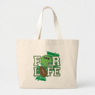 Football Fan Green Tote Bags