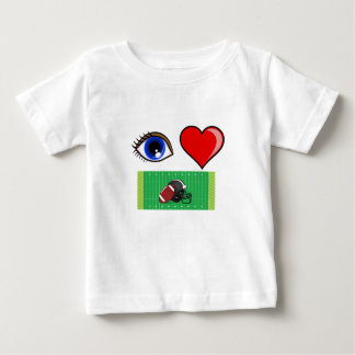 FOOTBALL FAN - I LOVE A FOOTBALL GAME W/ DAD BABY T-Shirt
