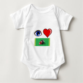 FOOTBALL FAN - I LOVE FOOTBALL SUNDAYS BABY BODYSUIT