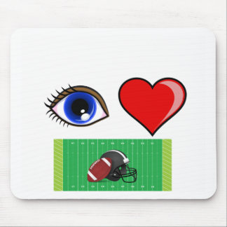 FOOTBALL FAN - I LOVE THE GAME OF FOOTBALL MOUSE PAD