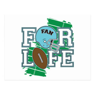 Football Fan Light Blue Postcards