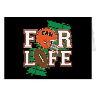 Football Fan Orange Greeting Cards