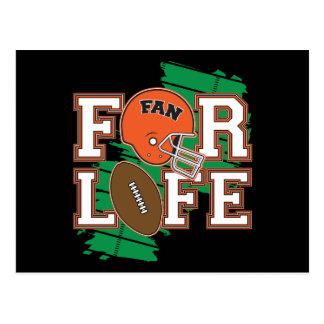 Football Fan Orange Post Card