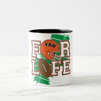 Football Fan Orange Two-Tone Coffee Mug