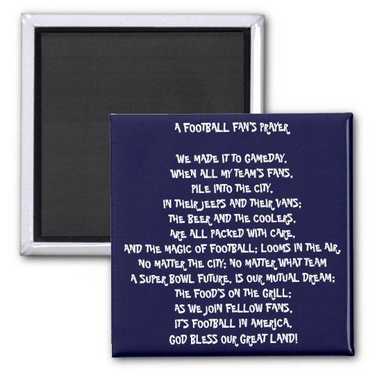 FOOTBALL FAN PRAYER MAGNET