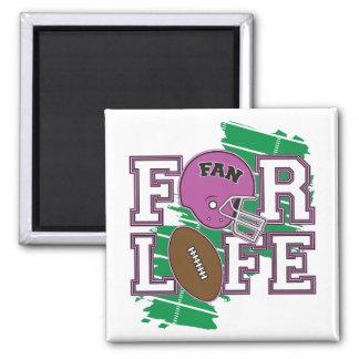 Football Fan Purple Fridge Magnets