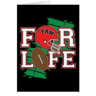 Football Fan Red Greeting Card