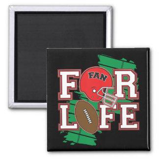 Football Fan Red Magnet