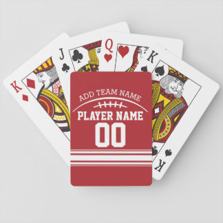 Football Fan with Custom Name and Number Deck Of Cards