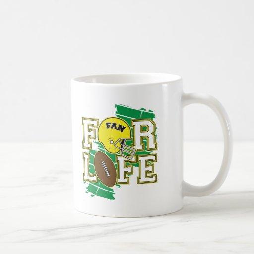Football Fan Yellow Mugs