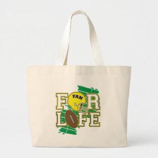 Football Fan Yellow Tote Bag