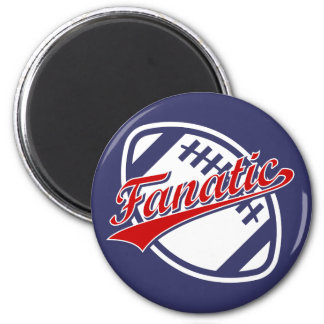 Football Fanatic 2 Inch Round Magnet
