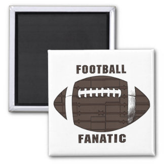 Football Fanatic by Mudge Studios 2 Inch Square Magnet