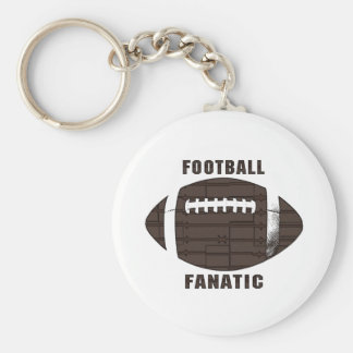 Football Fanatic by Mudge Studios Basic Round Button Keychain