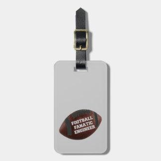 Football Fanatic Engineer Travel Bag Tag