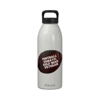 Football Fanatic Gulf War Veteran Water Bottle
