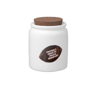 Football Fanatic Police Sergeant Candy Dish