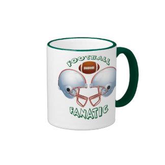 FOOTBALL FANATIC RINGER COFFEE MUG