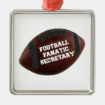Football Fanatic Secretary Christmas Tree Ornaments