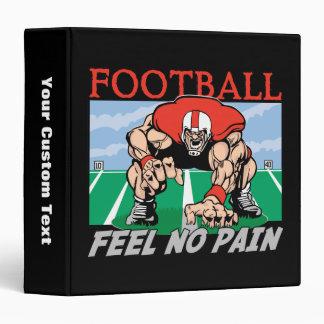Football Feel No Pain Vinyl Binder