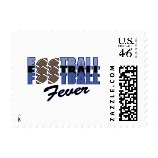 Football Fever Tshirts and Gifts Postage Stamps