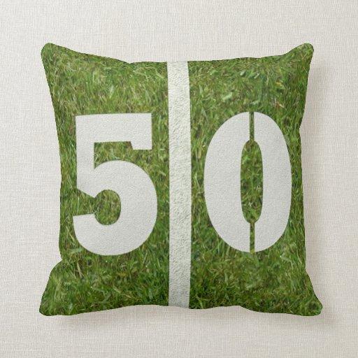 Football Field 40th Yard Pillow