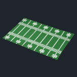 """Football Field 50 Yard Line Placemat<br><div class=""""desc"""">Football Field 50 Yard LinePlacemat. For the ultimate sports lover pair with our football plates,  coasters and mugs.</div>"""