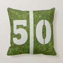 Football Field 50th Yard Pillow