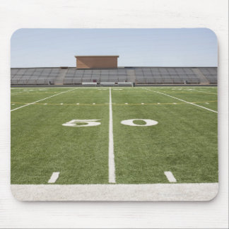 Football field and stadium mouse pad