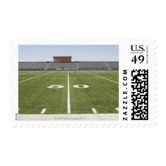 Football field and stadium stamp