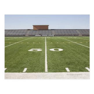 Football field and stadium postcard