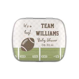 Football Field Baby Shower Favor Jelly Belly Candy Tins
