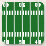 Football Field Cork Coaster