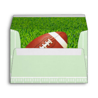 Football Field Custom Monogram Envelope