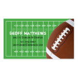 Football Field Daddy/Mommy Card Business Card Template